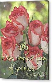 Joyful Gratitude Acrylic Print