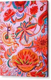Joyful Joyful Acrylic Print by Anne-Elizabeth Whiteway