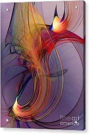 Joyful Leap-abstract Art Acrylic Print by Karin Kuhlmann