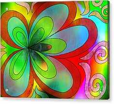 Joyful Peace - Paix Joyeuse Acrylic Print by Louise Lamirande