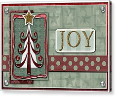 Joyful Tree Card Acrylic Print by Arline Wagner