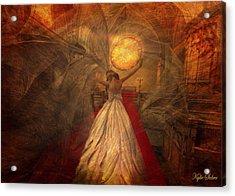 Joyous Bride Acrylic Print