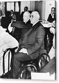J.p. Morgan At Senate Inquiry Acrylic Print by Underwood Archives