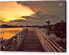 Jpp Sunset Acrylic Print by Don Durfee