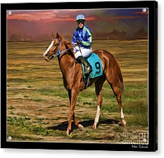 Juan Hermandez On Horse Atticus Ghost Acrylic Print