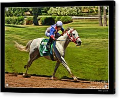 Juan Sanchez On Horse Sammy V  Acrylic Print by Blake Richards