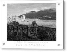 Juan Sebastian Elcano Arrival To The Port Of Ferrol Acrylic Print
