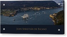 Juan Sebastian Elcano Departing The Port Of Ferrol Acrylic Print