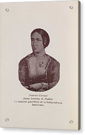 Juana Asurduy De Padilla Acrylic Print by British Library