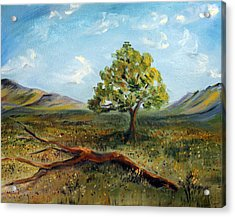 Acrylic Print featuring the painting Jubilant Fields by Meaghan Troup