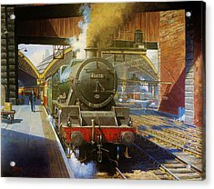 Jubilee 4.6.0 At Liverpool Lime Street. Acrylic Print by Mike  Jeffries