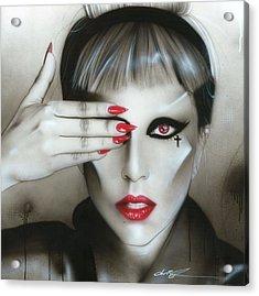 Lady Gaga - ' Judas Iscariot ' Acrylic Print by Christian Chapman Art