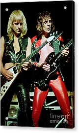 Judas Priest At The Warfield Theater During British Steel Tour Acrylic Print