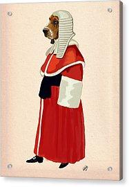 Judge Dog Full Acrylic Print by Kelly McLaughlan