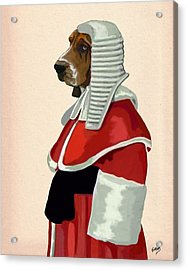 Judge Dog Portrait Acrylic Print by Kelly McLaughlan