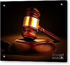 Judges Gavel 20150225 Acrylic Print by Wingsdomain Art and Photography