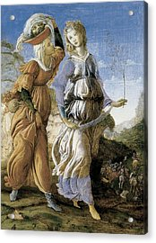 Judith With The Head Of Holofernes, C.1469-70 Tempera On Panel Recto Of 403008 Acrylic Print by Sandro Botticelli