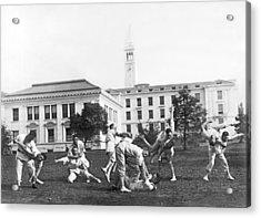 Judo At Uc Berkeley Acrylic Print by Underwood Archives