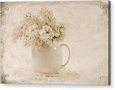 Jug Of White Lilacs Acrylic Print