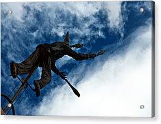 Juggling Statue Acrylic Print by Jess Kraft
