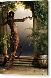 Acrylic Print featuring the digital art Juguar Girl by Kaylee Mason