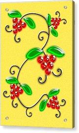 Juicy Berries Acrylic Print by Anastasiya Malakhova