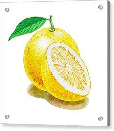 Acrylic Print featuring the painting Juicy Grapefruit by Irina Sztukowski