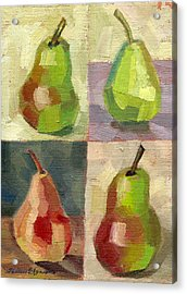 Juicy Pears Four Square Acrylic Print by Shalece Elynne