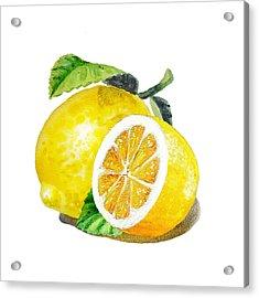 Juicy Tasty Lemon Acrylic Print by Irina Sztukowski