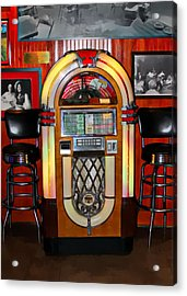 Juke Box Acrylic Print by James Stough