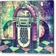 Juke Box Acrylic Print by Mo T