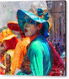 Julia At The Parade Acrylic Print by John  Kolenberg