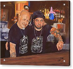 Julio And Miguel Acrylic Print by Margaret Merry