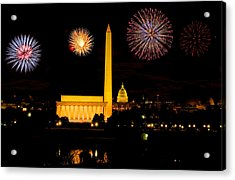 July 4th In Washington - Sydney Tran Acrylic Print by Sydney Tran