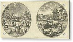 July And August, Adriaen Collaert, Hans Bol Acrylic Print by Adriaen Collaert And Hans Bol And Hans Van Luyck