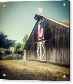 July Barn Acrylic Print by Melissa Broughton