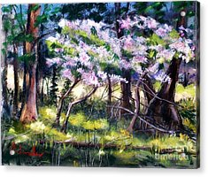 July Bloom Acrylic Print by Bruce Schrader