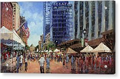 July Fourth In The Capital Acrylic Print by Dan Nelson