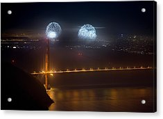 July Fourth Over The Bay Acrylic Print by Daniel Furon