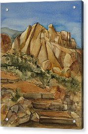 Jumbo Rocks At Joshua Tree Acrylic Print by Lynne Bolwell