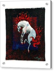 Jump Acrylic Print by David  Chapple