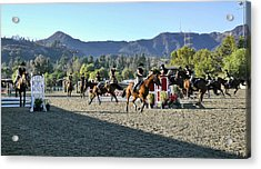 Jumper Competition Time Lapse Acrylic Print by Kevin Garrett