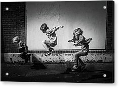 Jumping Over The Shadows Acrylic Print