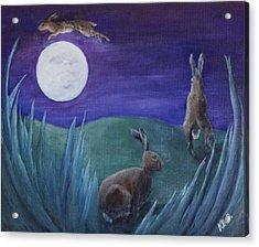 Jumping The Moon Acrylic Print
