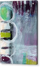 Junction- Abstract Expressionist Art Acrylic Print by Linda Woods