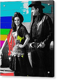 June Carter Cash Johnny Cash In Costume Old Tucson Az 1971-2008 Acrylic Print