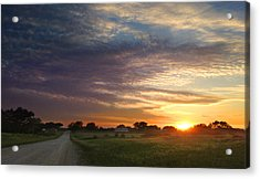 June Sky Osage County Acrylic Print