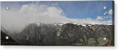 June Snow Squall Coming Down The Valley Acrylic Print