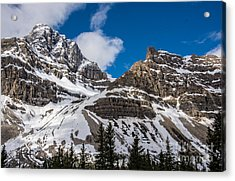 June Sun On Snow-capped Canadian Rockies Acrylic Print