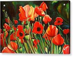 June Wearing Red Acrylic Print by Sheila Diemert